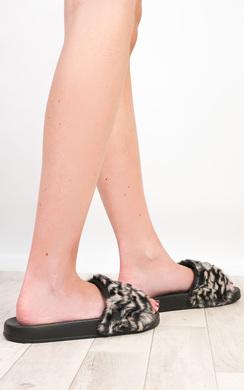 View the Rana Faux Fur Slider online at iKrush
