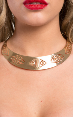 View the Kaylee Aztec Detail Necklace online at iKrush
