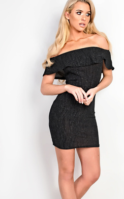 View the Kensie Shimmer Off Shoulder Bodycon Dress online at iKrush