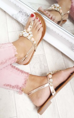 View the Chloe Crystal Embellished Sandals online at iKrush