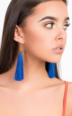View the Roya Tassel Earrings  online at iKrush