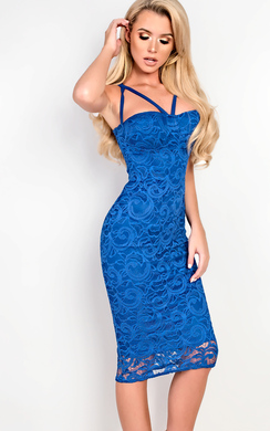View the Roseanne Lace Strappy Bodycon Dress online at iKrush
