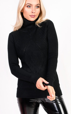 View the Bryony Knitted Polo Neck Jumper online at iKrush