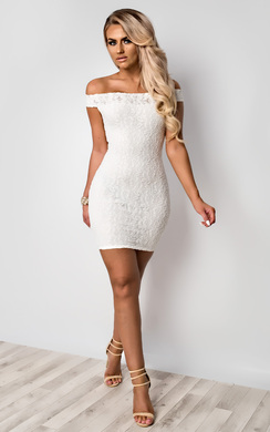 View the Cali Off Shoulder Lace Dress online at iKrush