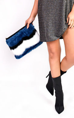 View the Alexia Faux Fur Shoulder Bag online at iKrush
