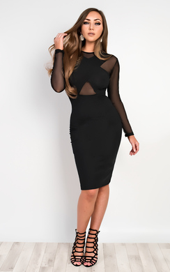 View the Luna Mesh Bodycon Dress online at iKrush