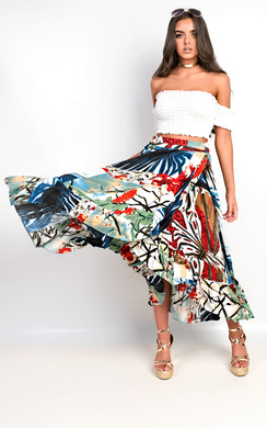 View the Friya Floral Frill Skirt online at iKrush