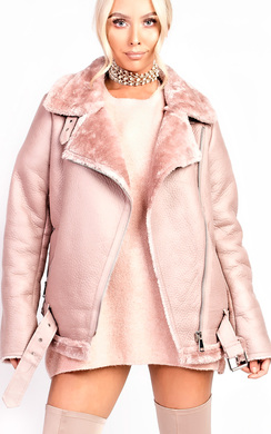 View the Kiara Oversized Faux Shearling Jacket online at iKrush