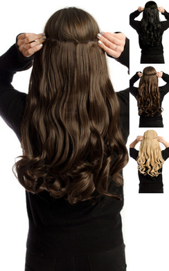 View the Intense Volume Clip In Hair Extensions - Curly Brunette online at iKrush