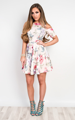 View the Irie Floral Skater Dress online at iKrush