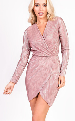 View the Kelcie Long Sleeved Shimmer Dress online at iKrush