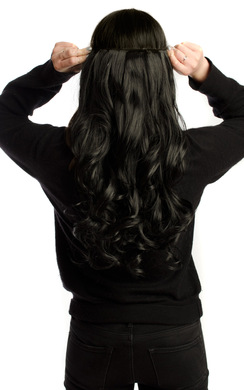 View the Intense Volume Clip In Hair Extensions - Curly Jet Black  online at iKrush
