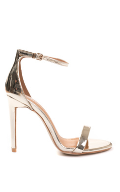 View the Alesia Metallic Barely There Heels online at iKrush