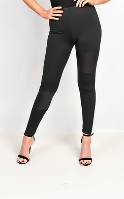 View the Valora PU Panel Leggings online at iKrush