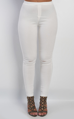 View the Irena Ripped Knee Jeggings online at iKrush