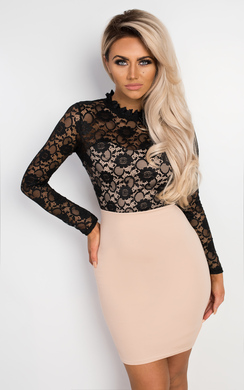 View the Viviana Lace Bodycon Dress online at iKrush