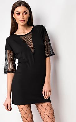 View the Balay Net Detail T-Shirt Dress online at iKrush