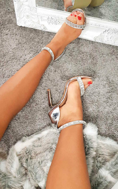 View the Rosie Diamante Strap Barely There Heels online at iKrush