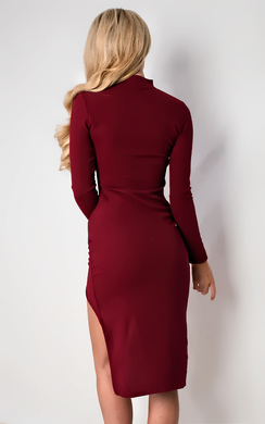 View the Serena Choker Gathered Bodycon Dress online at iKrush