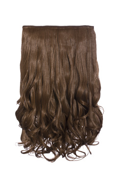 View the Intense Volume Clip In Hair Extensions - Curly Golden Brown  online at iKrush