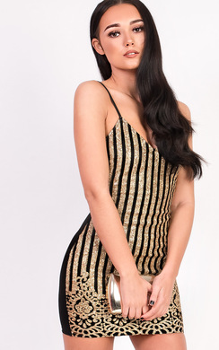 View the Chloe Glitter Bodycon Dress online at iKrush