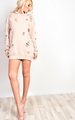 View the Avia Distressed Oversized Jumper Dress online at iKrush