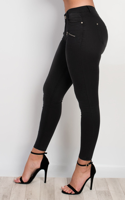 View the Palma Zip Detail Skinny Jeans online at iKrush