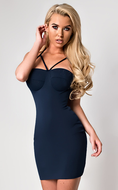 View the Sara Strappy Mini Dress online at iKrush
