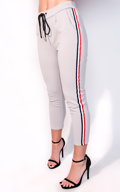 View the Sofia Striped Tie Tailored Trousers online at iKrush