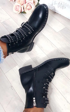View the Tessa Studded Buckle Ankle Boots  online at iKrush