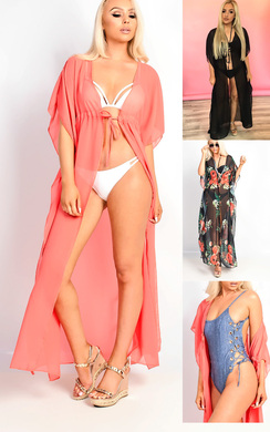 View the Jayla Tie Longline Kaftan Cover Up online at iKrush