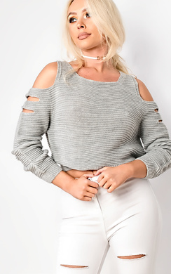 View the Ambrosia Cropped Cut Out Jumper online at iKrush