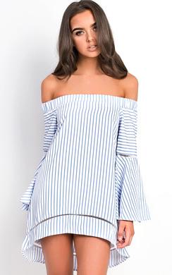 View the Lolita Bardot Stripe Bell Sleeve Top  online at iKrush