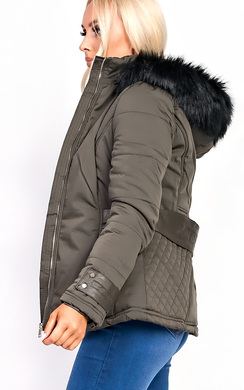 View the Klara Padded Fur Collar Jacket online at iKrush
