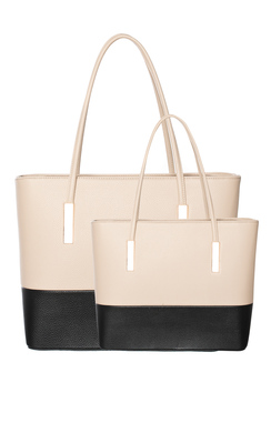View the Lilo 2 in 1 Contrast Faux Leather Handbag online at iKrush