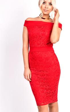 View the Jasmin Lace Midi Dress online at iKrush