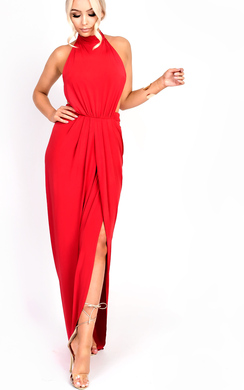 View the Miya Backless Split Maxi Dress online at iKrush