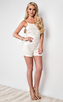 View the Jessica Strappy Lace Playsuit online at iKrush