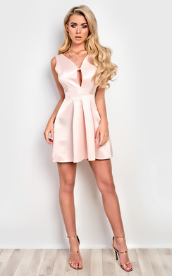 View the Angelique Satin Skater Dress online at iKrush