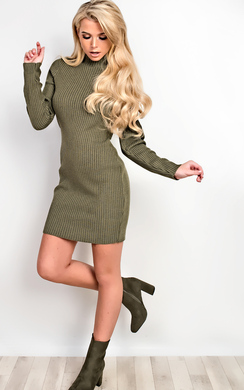 View the Finch Ribbed Dress online at iKrush