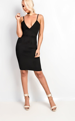 View the Sylvia Suede Cami Dress online at iKrush
