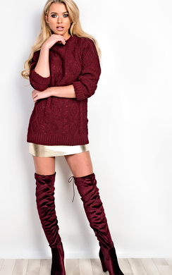 View the Rosalina Oversized Knitted Jumper online at iKrush