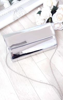 View the Mika Metallic Envelope Clutch Bag online at iKrush