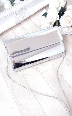 View the Mika Metallic Envelope Clutch Bag online at iKrush