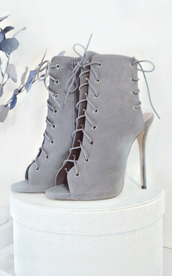 View the Radelle Peep Toe Lace-Up Heels online at iKrush