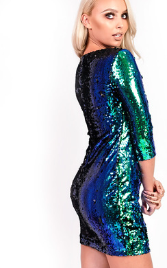 View the Carrie Sequin Bodycon Dress online at iKrush