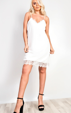 View the Tiffany Lace Cami Mini Dress online at iKrush