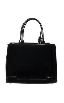 View the Sheridan Black Patent Handbag online at iKrush
