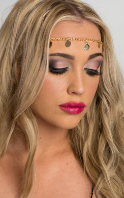 View the Lynwen Gold Circle Headchain online at iKrush