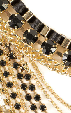 View the Vee Multi Layer Statement Necklace online at iKrush
